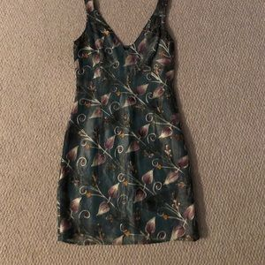 Silk and Embroidered Cynthia Rowley dress.